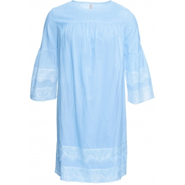 Kleid mit Spitze halber Arm  in blau für Damen von bonprix