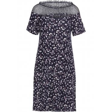 Kleid mit Spitze kurzer Arm  in blau für Damen von bonprix