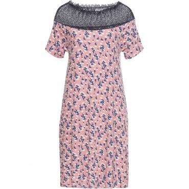 Kleid mit Spitze kurzer Arm  in rosa für Damen von bonprix