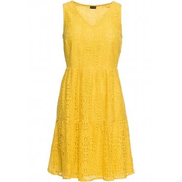 Kleid mit Spitze ohne Ärmel  in gelb für Damen von bonprix
