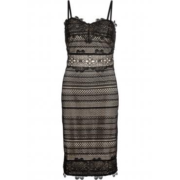 bea443ae600872 Kleid mit Spitze ohne Ärmel in schwarz für Damen von bonprix