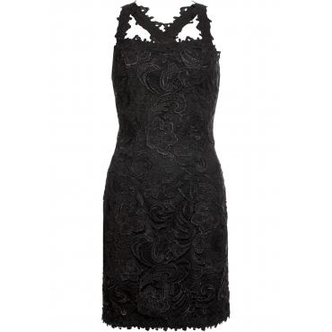 Kleid mit Spitze ohne Ärmel  in schwarz  von bonprix