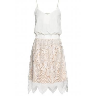 Kleid mit Spitze ohne Ärmel  in weiß für Damen von bonprix