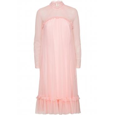 Kleid mit Spitze und Applikationen langarm  in rosa von bonprix