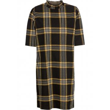 Kleid mit Stehkragen halber Arm  in schwarz für Damen von bonprix