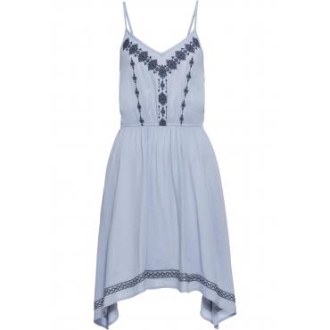 Kleid mit Stickerei ohne Ärmel  in blau für Damen von bonprix