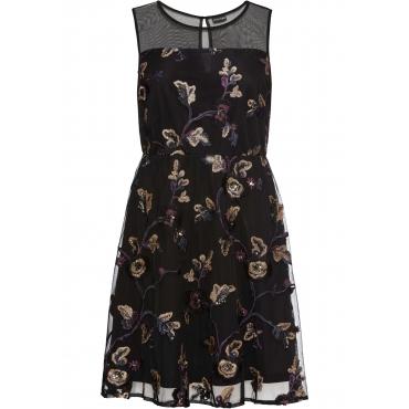 Kleid mit Stickerei ohne Ärmel  in schwarz für Damen von bonprix