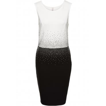 Kleid mit Strasssteinen ohne Ärmel  in weiß von bonprix