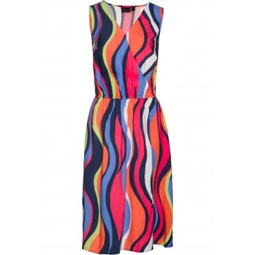 Kleid mit Streifen ohne Ärmel  in blau für Damen von bonprix