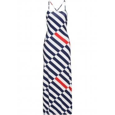 Kleid mit Streifenmuster ohne Ärmel  in weiß von bonprix