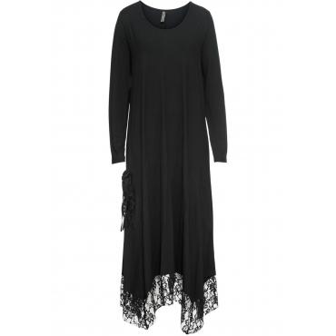 Kleid mit Tasche langarm  in schwarz von bonprix