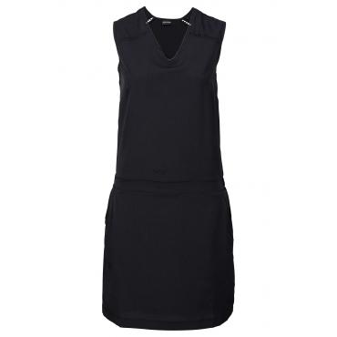 Kleid mit Taschen kurzer Arm  in schwarz von bonprix