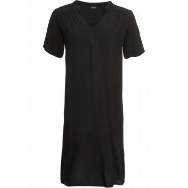 Kleid mit V-Ausschnitt kurzer Arm  in schwarz für Damen von bonprix