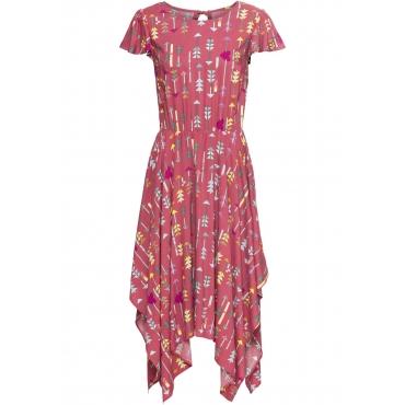7de74c5935e9b3 Kleid mit Volant kurzer Arm in lila von bonprix