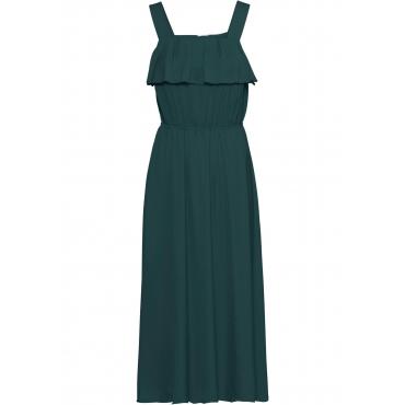 Kleid mit Volant ohne Ärmel  in grün für Damen von bonprix