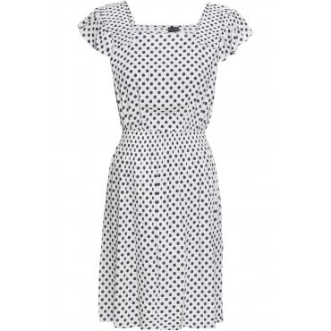 Kleid mit Volants kurzer Arm  in blau von bonprix