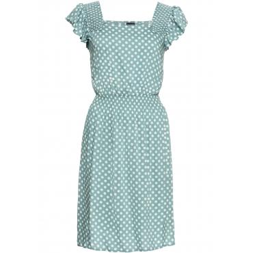 Kleid mit Volants kurzer Arm  in grün von bonprix