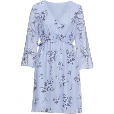 Kleid mit Volants langarm  in blau für Damen von bonprix