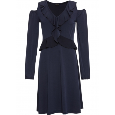 Kleid mit Volants: MUST HAVE langarm  in blau von bonprix