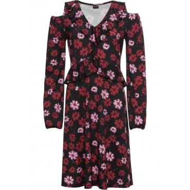 Kleid mit Volants: MUST HAVE langarm  in schwarz von bonprix