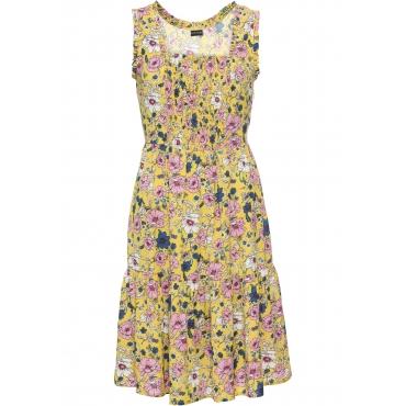 Kleid mit Volants ohne Ärmel  in gelb für Damen von bonprix