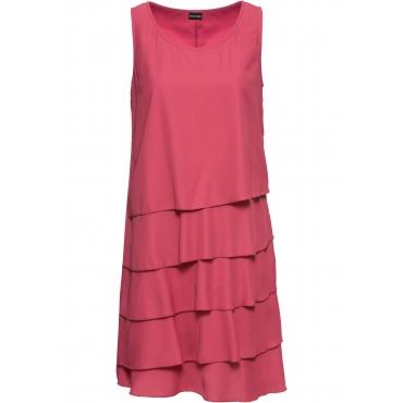 Kleid mit Volants ohne Ärmel  in pink für Damen von bonprix