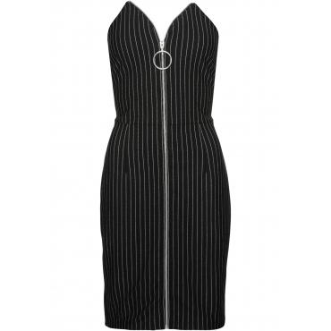 Kleid mit vorderem Reißverschluss ohne Ärmel  in schwarz  von bonprix