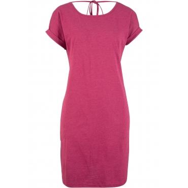 Kleid mit weitem Rückenausschnitt, halbarm in pink von bonprix