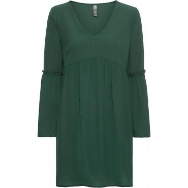 Kleid mit weiten Ärmeln langarm  in grün von bonprix