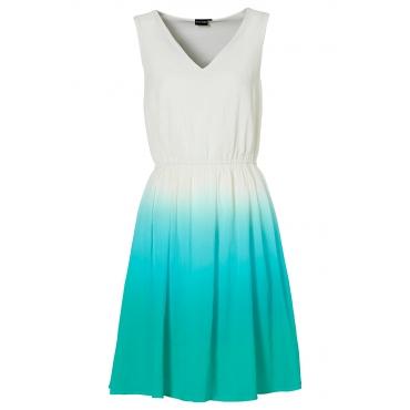 Kleid ohne Ärmel  figurbetont  in weiß (V-Ausschnitt) von bonprix