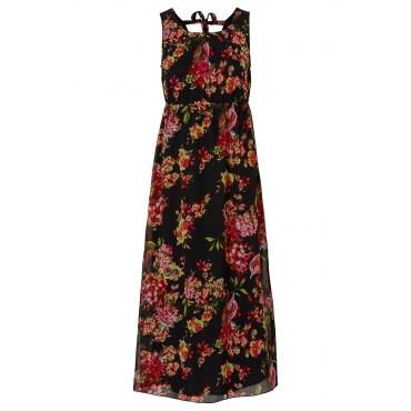 Kleid ohne Ärmel  figurumspielend  in schwarz (Rundhals) von bonprix