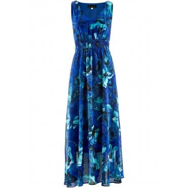 Kleid ohne Ärmel  in blau (V-Ausschnitt) von bonprix