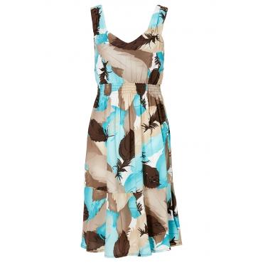 Kleid ohne Ärmel  in braun (V-Ausschnitt) von bonprix