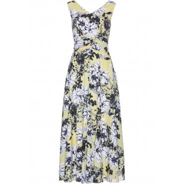Kleid ohne Ärmel  in gelb von bonprix
