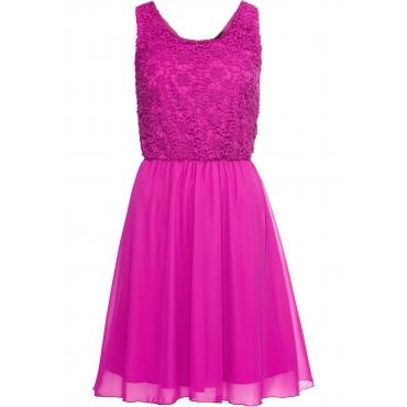 Kleid ohne Ärmel  in lila (Rundhals) für Damen von bonprix