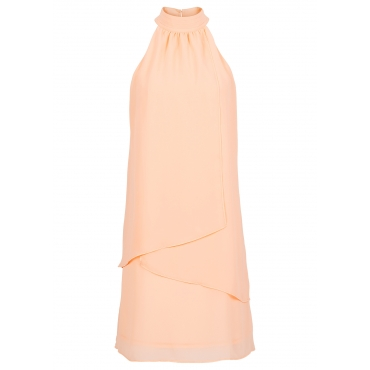 Neckholder-Kleid ohne Ärmel  in orange für Damen von bonprix