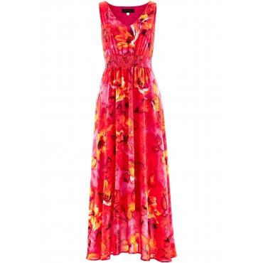 Kleid ohne Ärmel  in pink (V-Ausschnitt) von bonprix