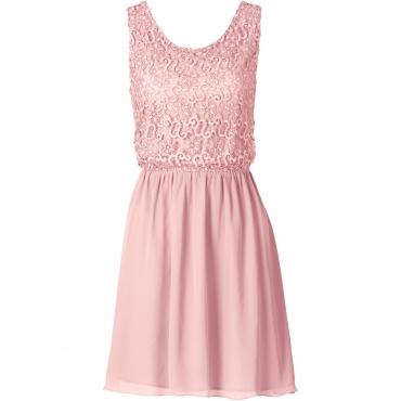 Kleid ohne Ärmel  in rosa (Rundhals) für Damen von bonprix