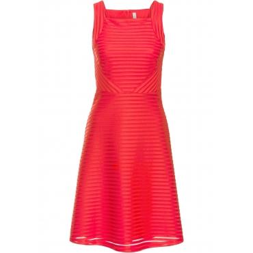 Kleid ohne Ärmel  in rot (Rechteckiger Ausschnitt) für Damen von bonprix