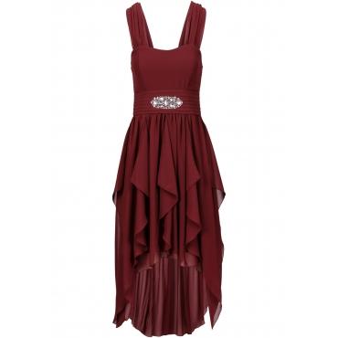 Vokuhila-Kleid ohne Ärmel  in rot für Damen von bonprix