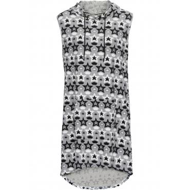 Jaquard-Kleid ohne Ärmel  in schwarz für Damen von bonprix