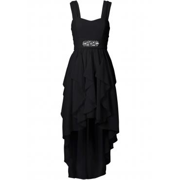 Vokuhila-Kleid ohne Ärmel  in schwarz für Damen von bonprix