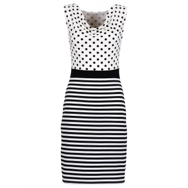 Kleid ohne Ärmel  in weiß von bonprix