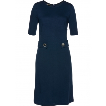 Kleid Punto di Roma kurzer Arm  in blau von bonprix
