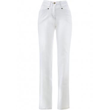 Komfort-Stretchhose in weiß für Damen von bonprix
