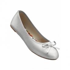 Komfortable Ballerinas in grau für Damen von bonprix
