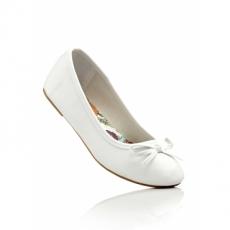 Komfortable Ballerinas in weiß für Damen von bonprix