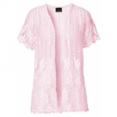 Kurzärmlige Spitzenjacke kurzer Arm  in rosa für Damen von bonprix