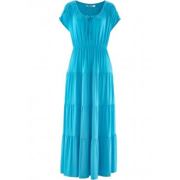Kurzärmliges Shirtkleid kurzer Arm  in blau von bonprix