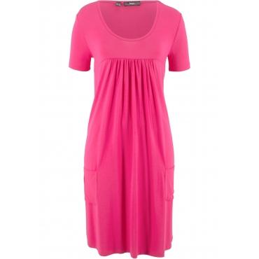 Kurzärmliges Shirtkleid kurzer Arm  in pink von bonprix